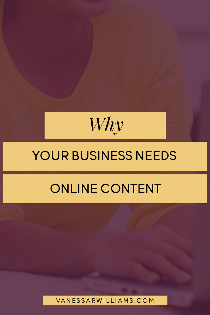 why your business needs online content