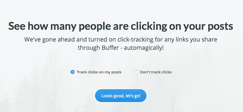 Confirm link tracking with Buffer